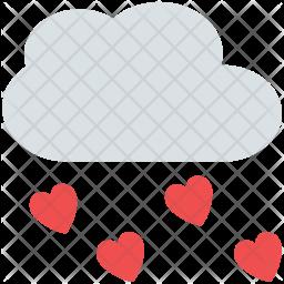 Raining hearts Icon