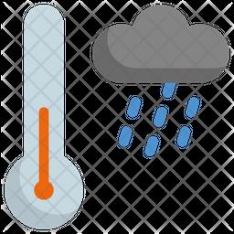 Raining temperature Icon