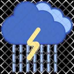 Rainstorm Colored Outline Icon