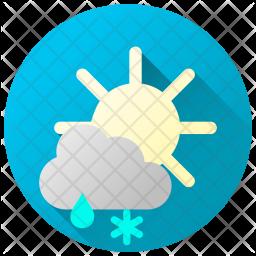 Rainy Snowy Day Icon