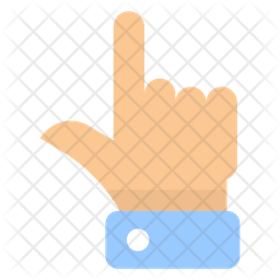 Raised Finger Emoji Icon