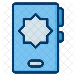 Ramadan App Colored Outline Icon
