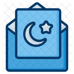 Ramadan Greeting Card Colored Outline Icon