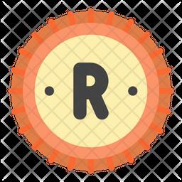 Rand Flat Icon