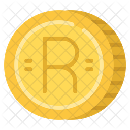 Rand Coin Flat Icon