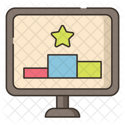 Ranking Factor Colored Outline Icon