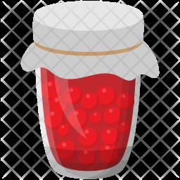 Raspberry Glass Jar Icon