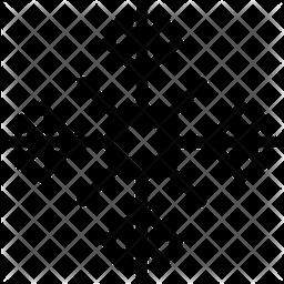 Raster Snowflake Icon