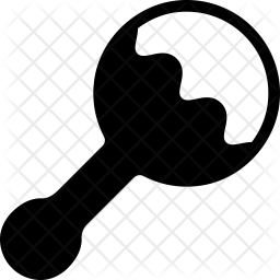 Rattle Glyph Icon