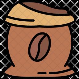 Raw Coffee Icon