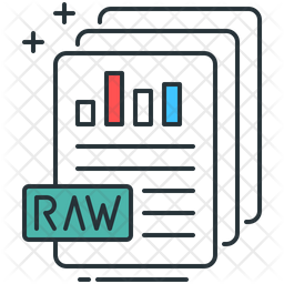 Raw Data Icon Of Colored Outline Style Available In Svg Png Eps Ai Icon Fonts