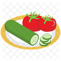 Raw Vegetables Vector Icon