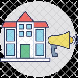 Real Estate Advertising Icon