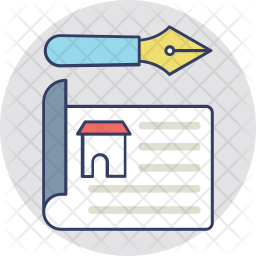 Real Estate Contract Icon