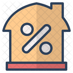 Real Estate Discount Colored Outline Icon