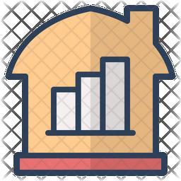 Real Estate Market Colored Outline Icon