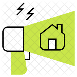 Real Estate Marketing Colored Outline Icon