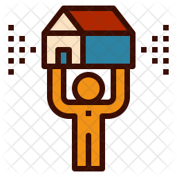 Realtor Agent Colored Outline Icon