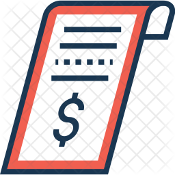 Receipt Colored Outline Icon