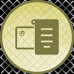 Receipt Flat Icon