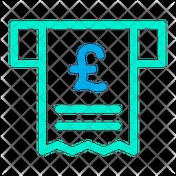 Receipt Pound Icon