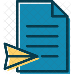 Receive Documents Colored Outline Icon