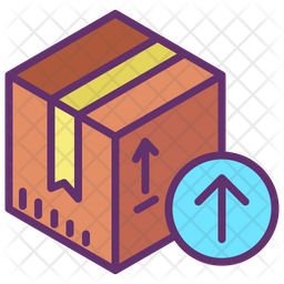 Receive Package Colored Outline Icon