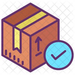 Received Delivery Colored Outline Icon