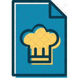 Recipe File Colored Outline Icon
