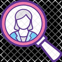 Recruitment Colored Outline Icon