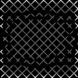 Rectangular frame Icon
