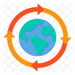 Recycle Globe Flat Icon