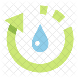 Recycle water Flat Icon