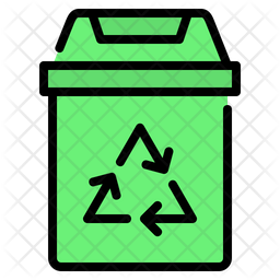 Recycling bin Colored Outline Icon
