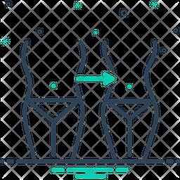 Reduction Line Icon
