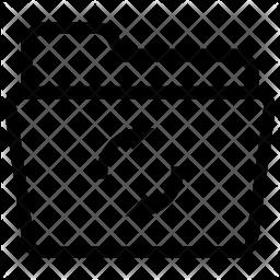 Refresh folder Line Icon