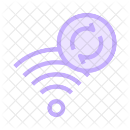 Refresh Signal Colored Outline Icon