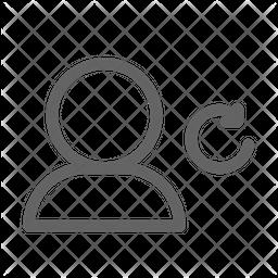Refresh user Line Icon