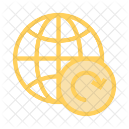 Refresh world Colored Outline Icon