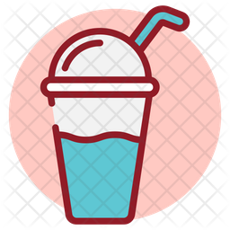 Refreshing Drink Colored Outline Icon