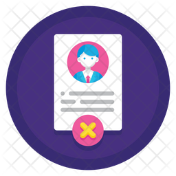 Reject Employee Icon