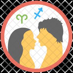 Relationship Horoscope Flat Icon