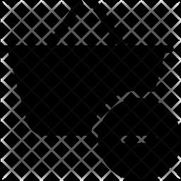 Remove basket Glyph Icon