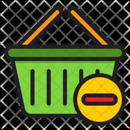 Remove Basket Colored Outline Icon