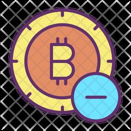 Remove Bitcoin Colored Outline Icon