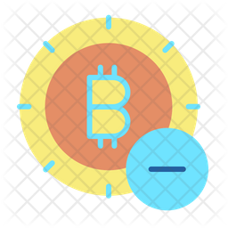 Remove Bitcoin Flat Icon