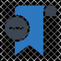 Remove Bookmark Flat Icon