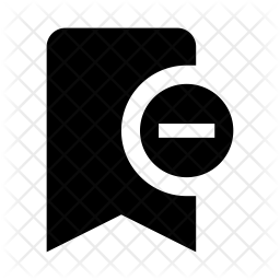 Remove Bookmark Glyph Icon