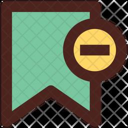 Remove Bookmark Colored Outline Icon