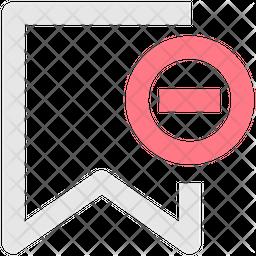 Remove Bookmark Line Icon